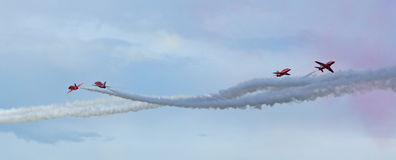 The Red Arrows cross over stock images
