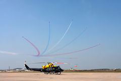 Red Arrows display Stock Images