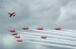 Red arrows display Royalty Free Stock Images