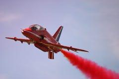 Red Arrows display RAF Fairford. BAE hawk fast jet Royal Air Force Aerobatic Team Stock Photos