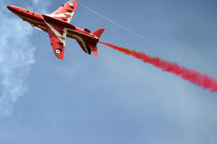 Red Arrows display RAF Fairford Royalty Free Stock Photography