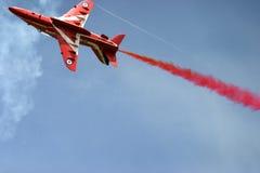 Red Arrows display RAF Fairford. BAE hawk fast jet Royal Air Force Aerobatic Team Royalty Free Stock Photography