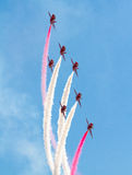 Red Arrows Display Team Stock Photography