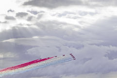 The Red Arrows Display Team Royalty Free Stock Photography