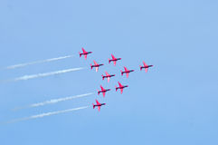 The Red Arrows Display Team Royalty Free Stock Photo