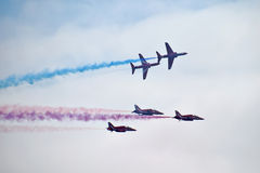 Red Arrows. Display team at Bournemouth air show 2015 Royalty Free Stock Photos