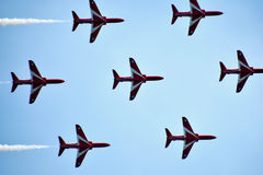 Red Arrows. Display team at Bournemouth air show 2015 Royalty Free Stock Photography