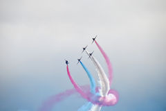 Red Arrows. Display team at Bournemouth air show 2015 Stock Photography