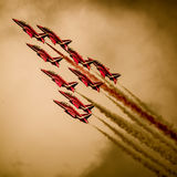 Red arrows display team Royalty Free Stock Photo