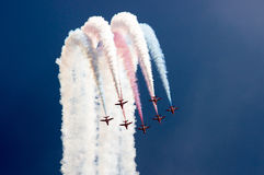 Red Arrows Display Team Royalty Free Stock Image