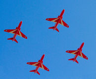 The Red Arrows display team in formation Weston Air Festival Weston-s-Mare Somerset Royalty Free Stock Image