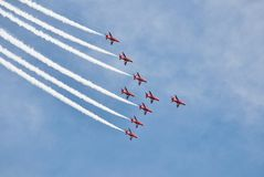 The Red Arrows display team Stock Photos