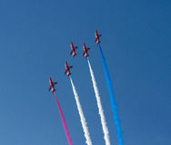 The Red Arrows display team Weston Air Festival Weston-s-Mare Somerset Royalty Free Stock Images