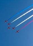 The Red Arrows display team Weston Air Festival Weston-s-Mare Somerset Royalty Free Stock Image