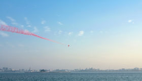 Red Arrows in Doha Stock Photography