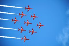 The Red Arrows, Eastbourne Stock Image