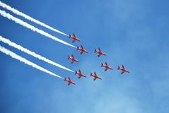 The Red Arrows, Eastbourne Royalty Free Stock Images