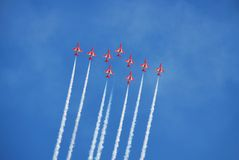 The Red Arrows, Eastbourne Royalty Free Stock Image