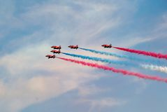 The Red Arrows, Eastbourne Stock Photography