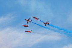 The Red Arrows, Eastbourne Royalty Free Stock Photos