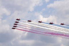 Red arrows from Engeland. Royalty Free Stock Photos