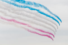 Red arrows in flight Stock Images
