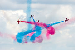 Red Arrows flying demonstration team Royalty Free Stock Photo