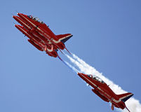 The Red Arrows flying in formation Royalty Free Stock Photography