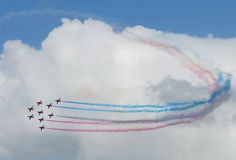 Red Arrows formation Stock Photography