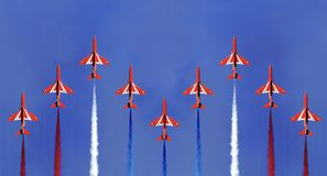 Red Arrows Formation Stock Photos