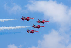 Red Arrows Formation Display Stock Image