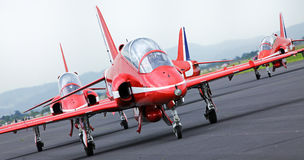 RED ARROWS - ON THE GROUND in Maribor, Slovenia Royalty Free Stock Photo