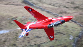 Red Arrows jet Stock Images