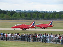 Red Arrows Jets Stock Images