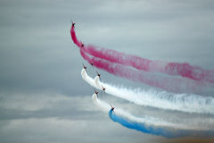 Red Arrows Manoeuvre Royalty Free Stock Image