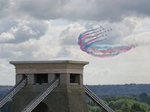 Red Arrows over Bristol stock image