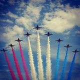 Red Arrows Stock Photo