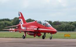 Red Arrows pilot preparing for flight Royalty Free Stock Image