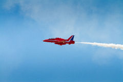 Red Arrows plane Royalty Free Stock Photos
