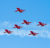 Red Arrows planes Royalty Free Stock Photography