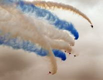 The Red Arrows RAF display team in action. Stock Photography