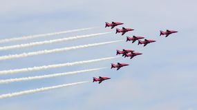 The Red Arrows Royalty Free Stock Photography