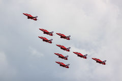 The Red Arrows Royalty Free Stock Photos