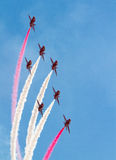 Red Arrows RAF Display Team Royalty Free Stock Photo