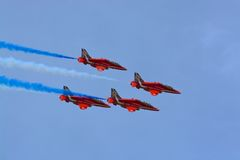 Red arrows. RAF red arrows display team Stock Image