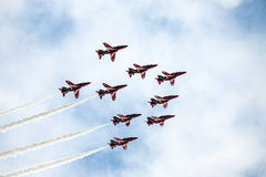 Red Arrows RAF Display Team Stock Photos