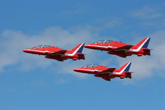 Red Arrows air acrobatics team planes Stock Photo