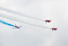 Red Arrows Royal Air Force Aerobatic Display above Tallinn Bay at 23.06.2014 Stock Image