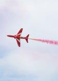 Red Arrows Royal Air Force Aerobatic Display above Tallinn Bay at 23.06.2014 Royalty Free Stock Photo