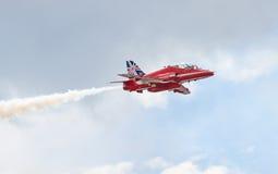 Red Arrows Royal Air Force Aerobatic Display above Tallinn Bay at 23.06.2014 Royalty Free Stock Photography